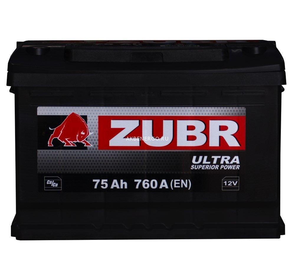 Аккумулятор ZUBR ULTRA 75.1 (12В / 75Ач) - купить по низкой цене в интернет-магазине аккумуляторов «АКБ Энерго» из Санкт-Петербурга.