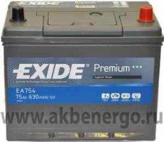 Автомобильный аккумулятор Exide Premium EA754 12В 75Ач