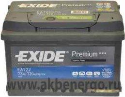 Автомобильный аккумулятор Exide Premium EA722 12В 72Ач
