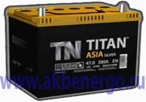 Автомобильный аккумулятор TITAN Asia 6СТ-47.0 12В 47Ач