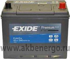 Автомобильный аккумулятор Exide Premium EA654 12В 65Ач