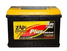 Автомобильный аккумулятор Zap Plus 575 20 12В 75Ач