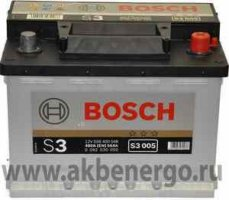 Автомобильный аккумулятор Bosch S3 005 12В 56Ач