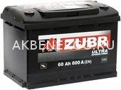 Автомобильный аккумулятор ZUBR ULTRA 60.0 12В 60Ач