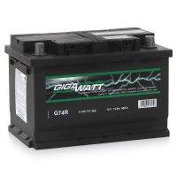 Автомобильный аккумулятор GigaWatt G74R 12В 74Ач