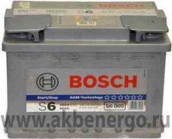 Автомобильный аккумулятор Bosch S6 005 AGM 12В 60Ач