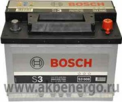 Аккумулятор Bosch S3 008 278x175x190