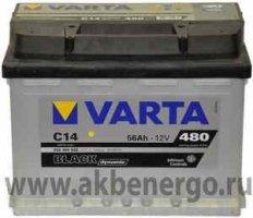 Автомобильный аккумулятор Varta Black Dynamic C14 12В 56Ач