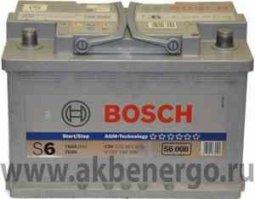Автомобильный аккумулятор Bosch S5 A08 AGM (прежнее название S6008) 12В 70Ач