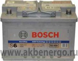 Аккумулятор Bosch S5 A08 AGM (прежнее название S6008) 278x175x190