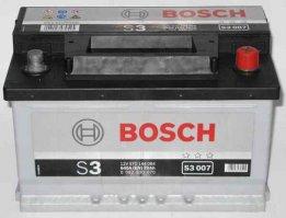 Автомобильный аккумулятор Bosch S3 007 12В 70Ач