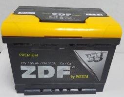 Автомобильный аккумулятор ZDF Premium 55.1 12В 55Ач