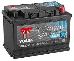 Автомобильный аккумулятор Yuasa AGM YBX9096 12В 70Ач